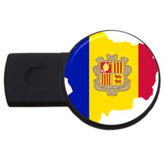 Andorra Country Europe Flag Usb Flash Drive Round (2 Gb)