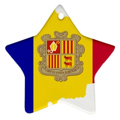 Andorra Country Europe Flag Star Ornament (two Sides) by Sapixe