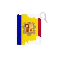 Andorra Country Europe Flag Drawstring Pouch (xs) by Sapixe