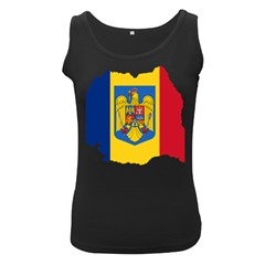 Romania Country Europe Flag Women s Black Tank Top