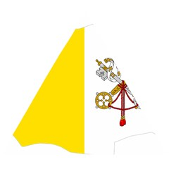 Vatican City Country Europe Flag Wooden Puzzle Triangle