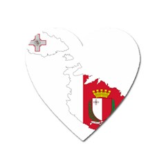 Malta Country Europe Flag Borders Heart Magnet by Sapixe