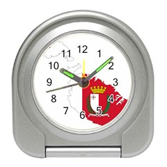 Malta Country Europe Flag Borders Travel Alarm Clock by Sapixe