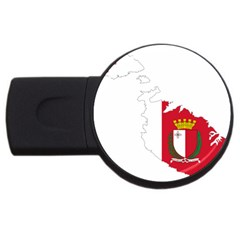 Malta Country Europe Flag Borders Usb Flash Drive Round (4 Gb) by Sapixe