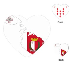 Malta Country Europe Flag Borders Playing Cards Single Design (heart) by Sapixe