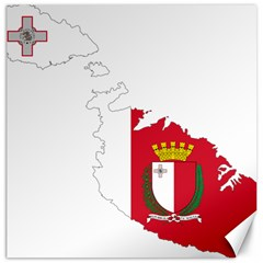 Malta Country Europe Flag Borders Canvas 12  X 12  by Sapixe