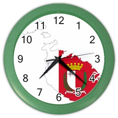 Malta Country Europe Flag Borders Color Wall Clock