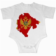 Montenegro Country Europe Flag Infant Creepers by Sapixe