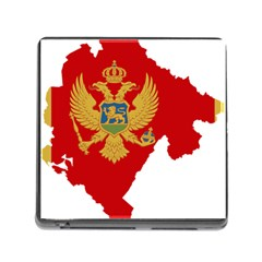 Montenegro Country Europe Flag Memory Card Reader (square 5 Slot)