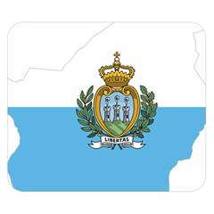 San Marino Country Europe Flag Double Sided Flano Blanket (small)