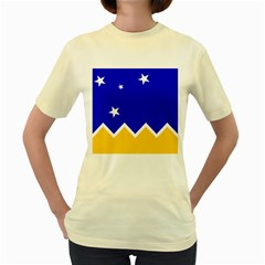 Flag Of Magallanes Region, Chile Women s Yellow T-shirt by abbeyz71