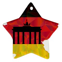 Republic Germany Deutschland Map Ornament (star) by Sapixe