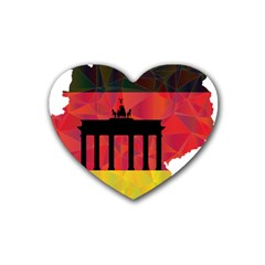 Republic Germany Deutschland Map Rubber Coaster (heart)