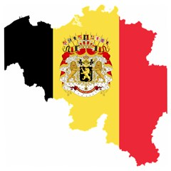 Belgium Country Europe Flag Wooden Puzzle Square