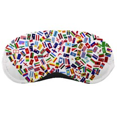 Heart Flags Countries United Unity Sleeping Mask