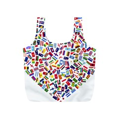 Heart Flags Countries United Unity Full Print Recycle Bag (s)