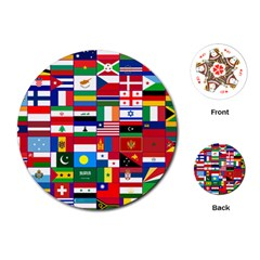 Flags Countries International Playing Cards Single Design (round)