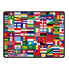 Flags Countries International Double Sided Fleece Blanket (small)