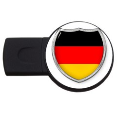 Flag German Germany Country Symbol Usb Flash Drive Round (2 Gb) by Sapixe