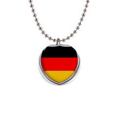 Flag German Germany Country Symbol 1  Button Necklace