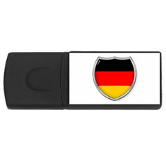 Flag German Germany Country Symbol Rectangular Usb Flash Drive