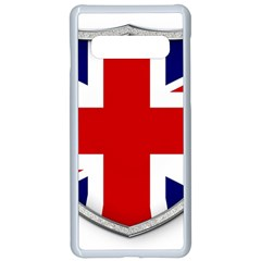 Flag Union Jack Uk British Symbol Samsung Galaxy S10 Seamless Case(white) by Sapixe