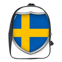 Flag Sweden Country Swedish Symbol School Bag (large) by Sapixe