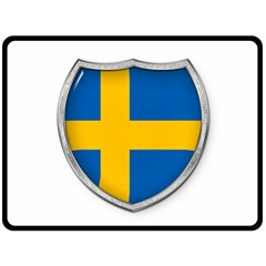 Flag Sweden Country Swedish Symbol Double Sided Fleece Blanket (large)