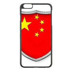 Flag China Country Nation Asia Iphone 6 Plus/6s Plus Black Enamel Case