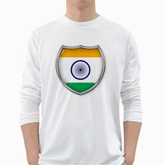 Flag India Nation Country Banner Long Sleeve T Shirt
