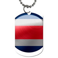 Costa Rica Flag Country Symbol Dog Tag (two Sides)