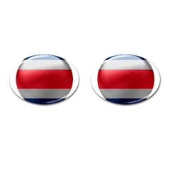 Costa Rica Flag Country Symbol Cufflinks (oval)