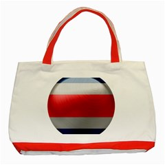 Costa Rica Flag Country Symbol Classic Tote Bag (red)