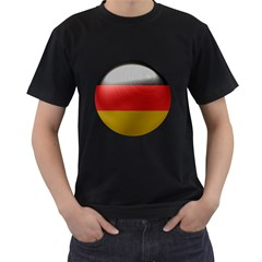 Germany Flag Europe Country Men s T Shirt (black) (two Sided)