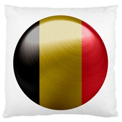 Belgium Flag Country Europe Large Flano Cushion Case (one Side) by Sapixe