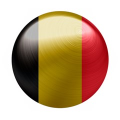 Belgium Flag Country Europe Wooden Puzzle Hexagon