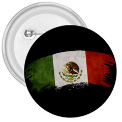 Flag Mexico Country National 3  Buttons by Sapixe