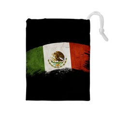 Flag Mexico Country National Drawstring Pouch (large) by Sapixe