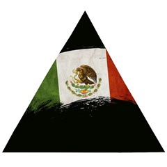 Flag Mexico Country National Wooden Puzzle Triangle