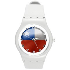 Chile Flag Country Chilean Round Plastic Sport Watch (m)