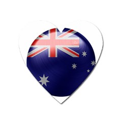 Australia Flag Country National Heart Magnet by Sapixe