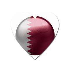 Qatar Flag Country Nation National Heart Magnet