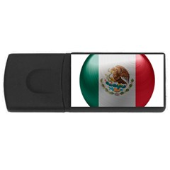 Mexico Flag Country National Rectangular Usb Flash Drive by Sapixe