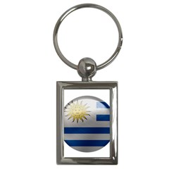 Uruguay Flag Country Symbol Nation Key Chain (rectangle)