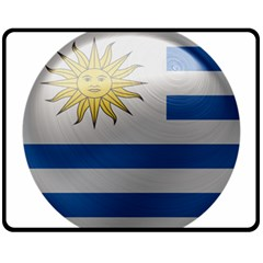 Uruguay Flag Country Symbol Nation Fleece Blanket (medium)  by Sapixe