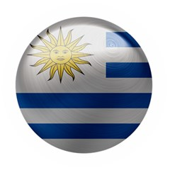 Uruguay Flag Country Symbol Nation Wooden Bottle Opener (round) by Sapixe