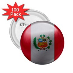 Peru Flag Country Symbol Nation 2 25  Buttons (100 Pack)
