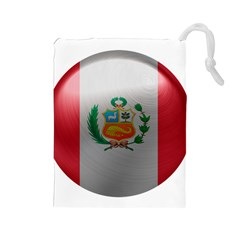 Peru Flag Country Symbol Nation Drawstring Pouch (large)