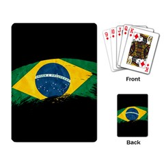 Flag Brazil Country Symbol Playing Cards Single Design (rectangle) by Sapixe