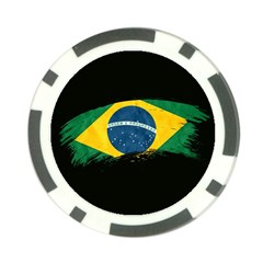 Flag Brazil Country Symbol Poker Chip Card Guard